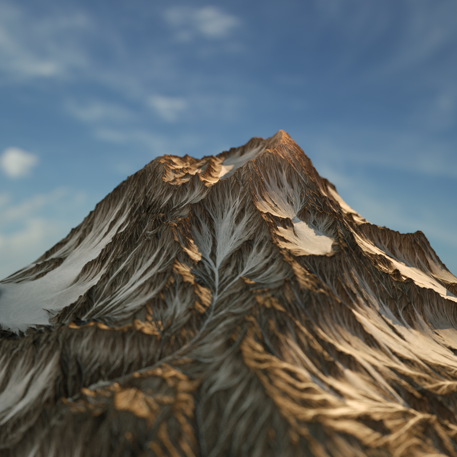 HIGH POLY 3D Mountain And Texture 3D Model in Landscapes 3DExport
