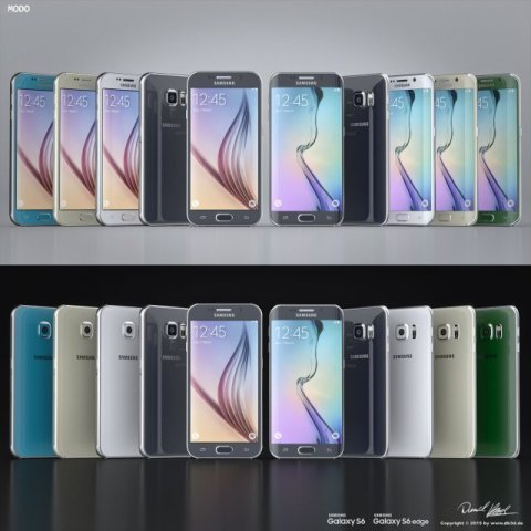 Samsung Galaxy S6S6 Edge All Colors Modo Octane 3D Model