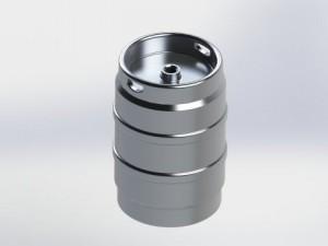 Beer Keg aluminum 16diaX23 38H