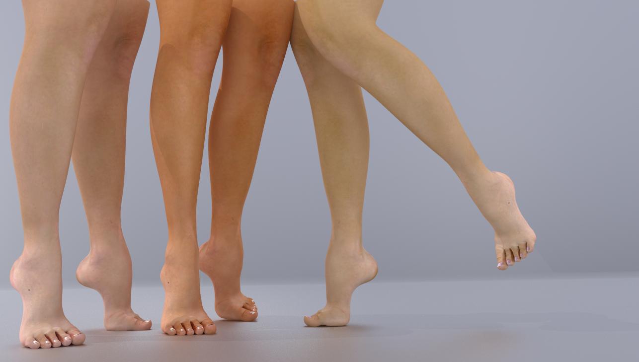 Legs and feet High feet 3D Model in Man 3DExport