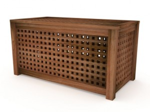 Wood Modern IKEA HOL Coffee Storage Table Acacia