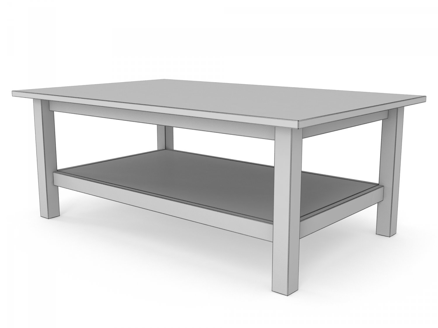- IKEA HEMNES Coffee Table In The Three Colors 3D-Modell In Tisch