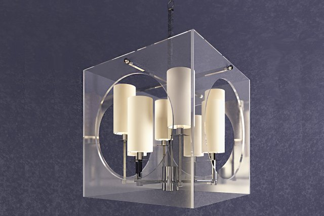 Regina Andrew Lighting Acrylic Cube Chandelier 3D Model