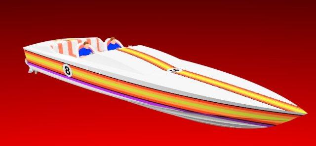 Offshore racing powerboat 3D Model