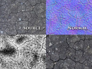 Seamless ground textures 5pack NormalBump