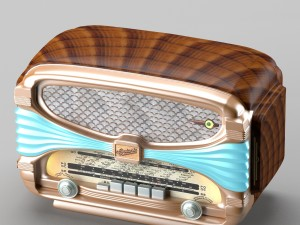 Retro radio in art deco style