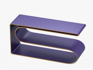 Modern shelf in violet and gold