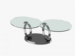 Modern table with two glass tabletops