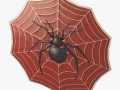Spider decorated shield