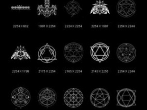 Objects Symbols Occult Alchemical Circles