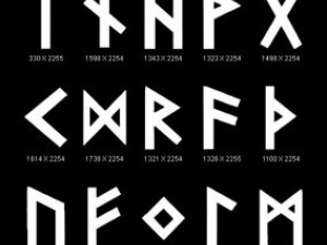 Objects Symbols Occult Runes Nordic