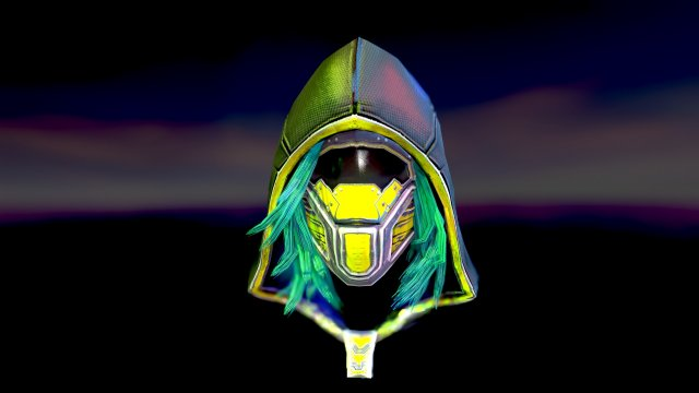 Sci-fi hood mask 3D Model