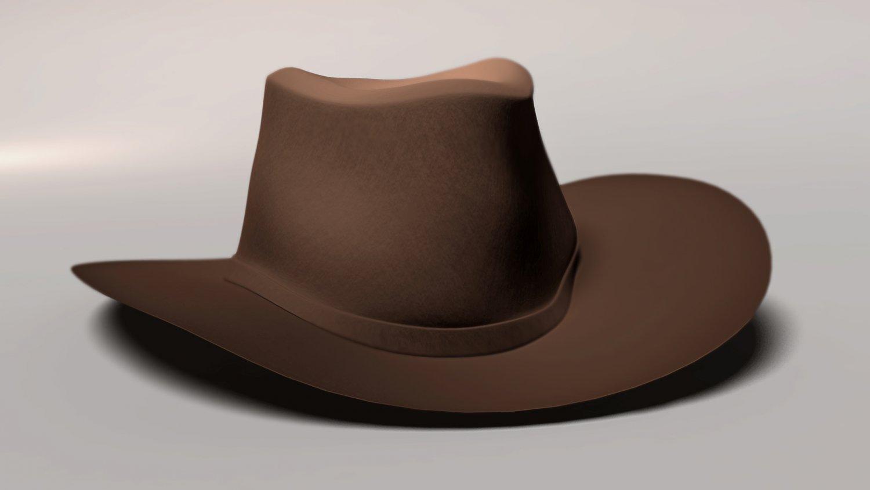 Western Hat Gratis Modelo 3D in Ropa 3DExport b9cfd99b663