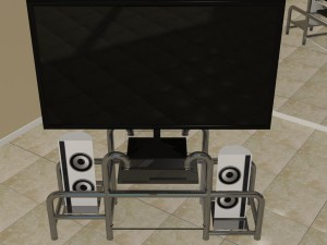 Home entertainment system with stand