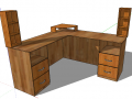 Particleboard Corner Office Table