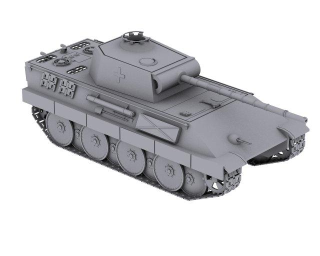 German Tank Panzerkampfwagen V Panther 3D Model