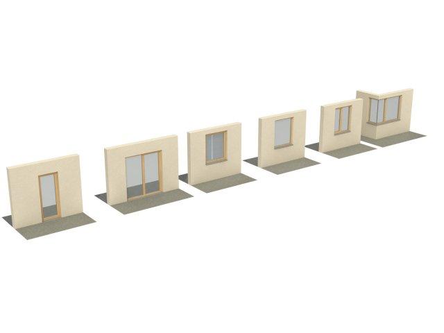 Wooden windows for viz 3D Model