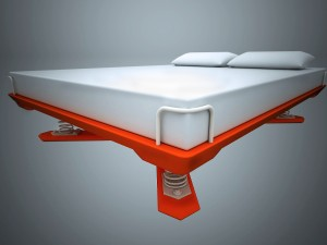 Double bed with spring base