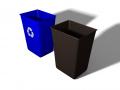 Recycling Bin and Trash Bin
