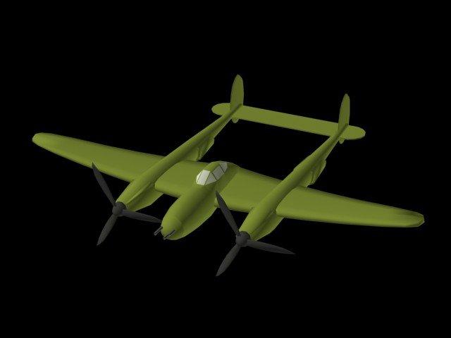 P-38 Lightening 3D Model