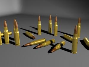762 Caliber Bullets Scenery