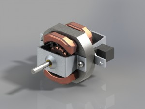 AC electric motor of hair dryer