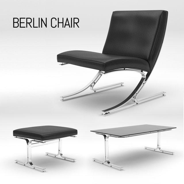 Berlin Chair Set 3D Model