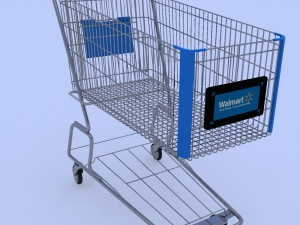 Walmart Shopping Cart 3D Modell