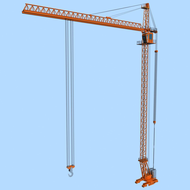 Tower Crane 3D Model in Tools 3DExport