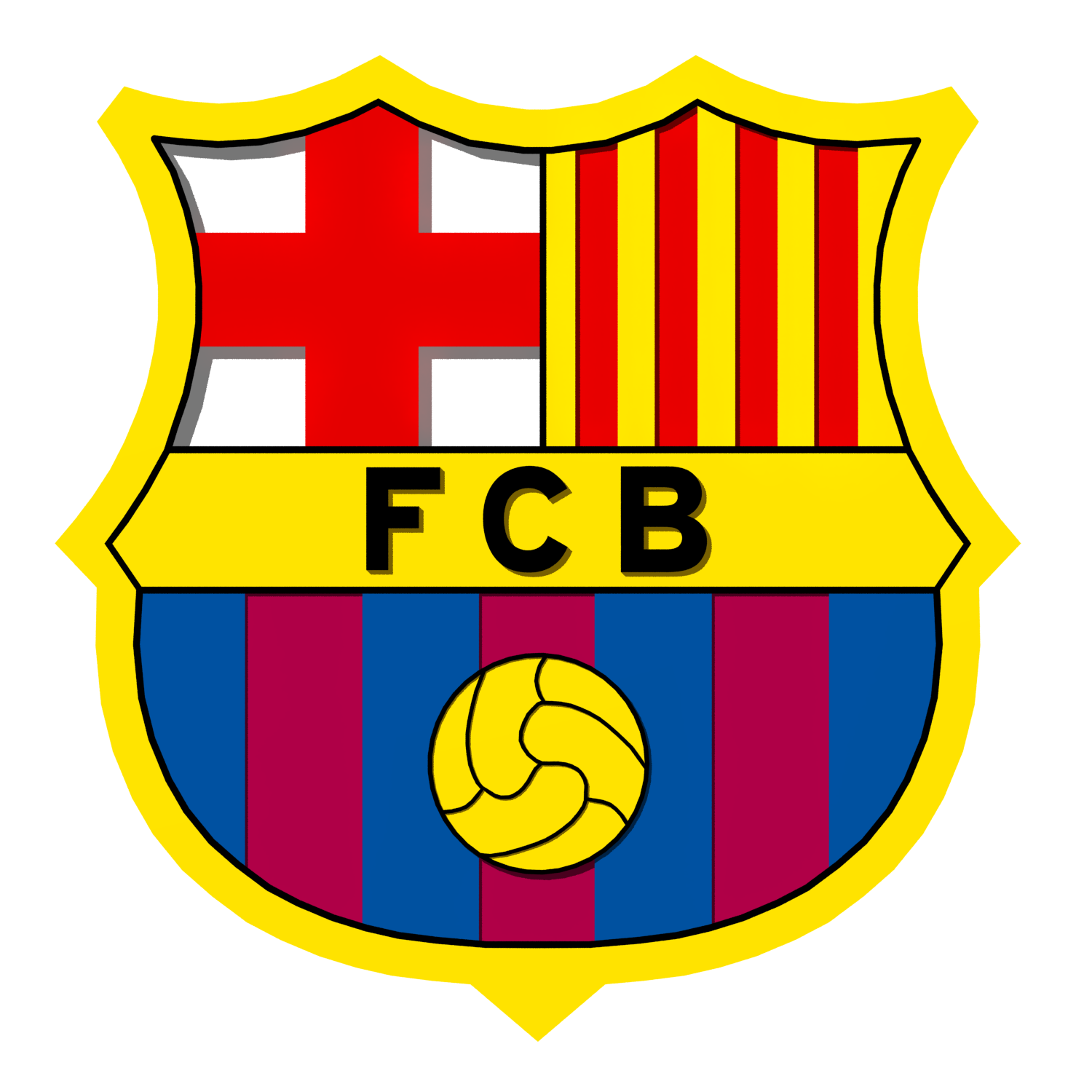 fc barcelona logo 3d model in sports equipment 3dexport fc barcelona logo 3d model in sports equipment 3dexport