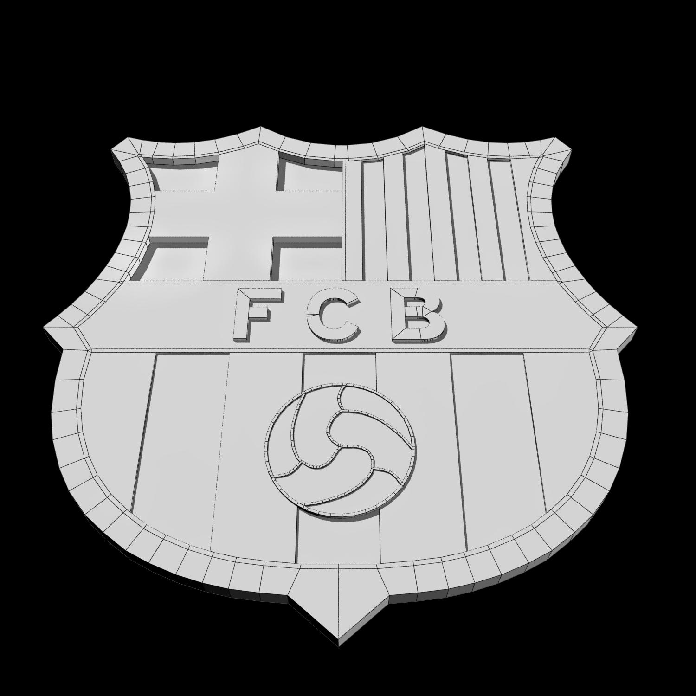 FC Barcelona Logo 3D Model in Sports Equipment 3DExport