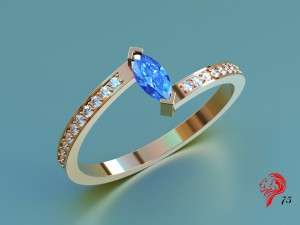 Stone ring with Marquis