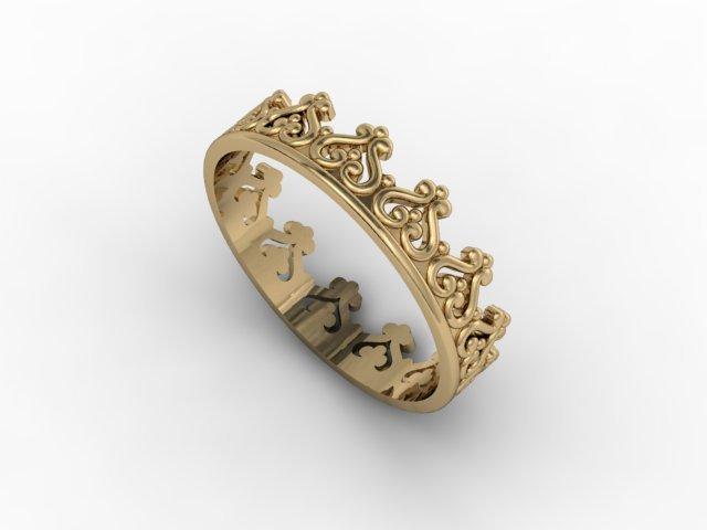 Jewellery ring crown Free 3D Model in Rings 3DExport