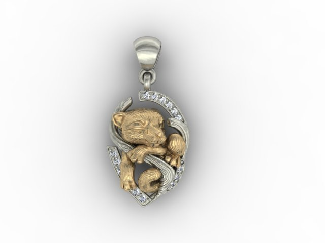 Baby tiger necklace 3d model in pendants 3dexport baby tiger necklace 3d model mozeypictures Gallery
