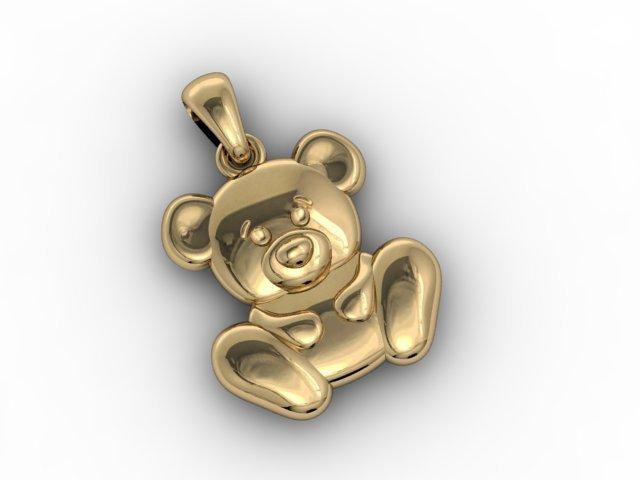 Baby bear pendant 3d model in pendants 3dexport baby bear pendant 3d model aloadofball Choice Image