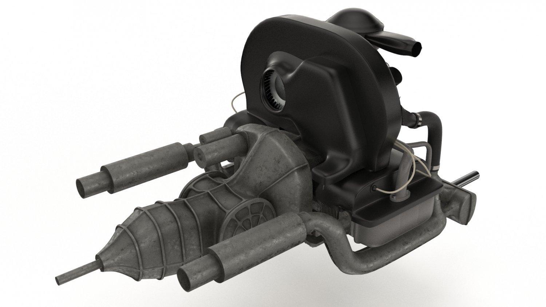 Engine Volkswagen Beetle 3D Model in Parts of auto 3DExport3DExport
