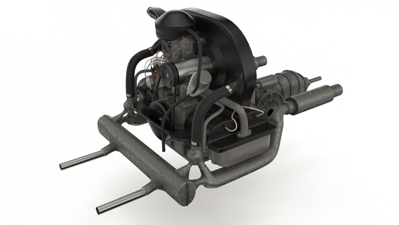 Engine Volkswagen Beetle 3D Model in Parts of auto 3DExport