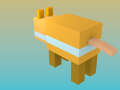 Hamster pixel and blocky minecraft rigged