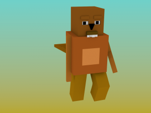 Blockypixel Beavercastor ik rig