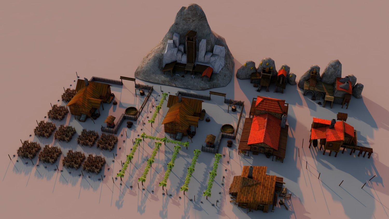 Mines and fields Rome 3D Model in Buildings 3DExport