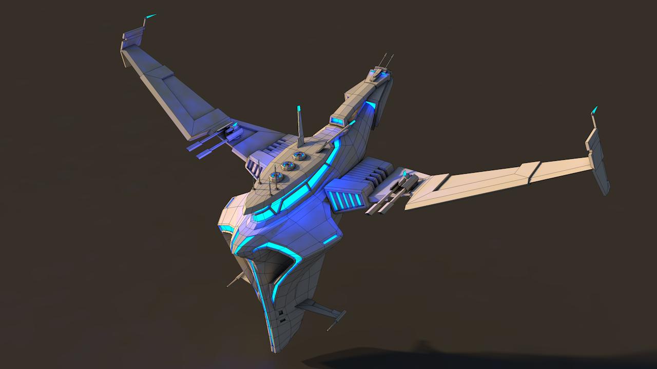 Spaceship 1 3D Model in Fantasy Spacecraft 3DExport