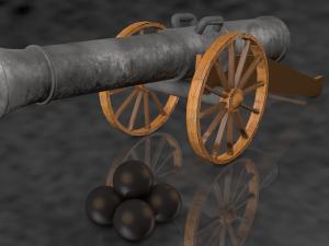Artillery Gun Model
