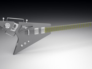 Guitar style simpank HighPoly