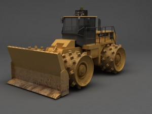 Compactor Heavy Equipment 3D Model