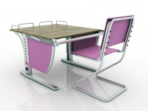 Growing desk and growing chair LIBAO LB-D05