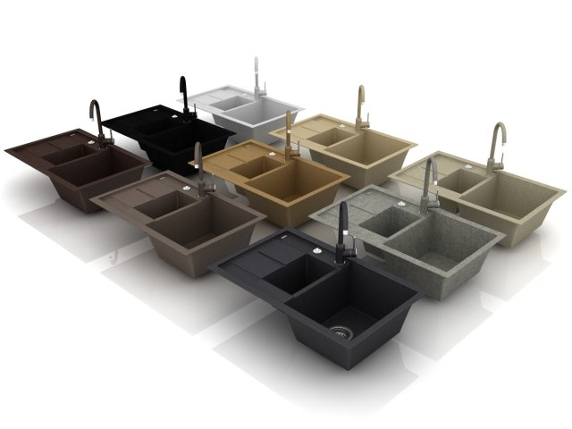 Sink Blanco Metra 6S Compact All Colors 3D Model