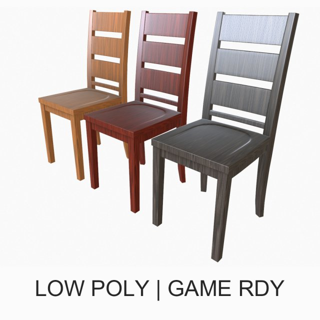 Simple Dining Chair 3D Model