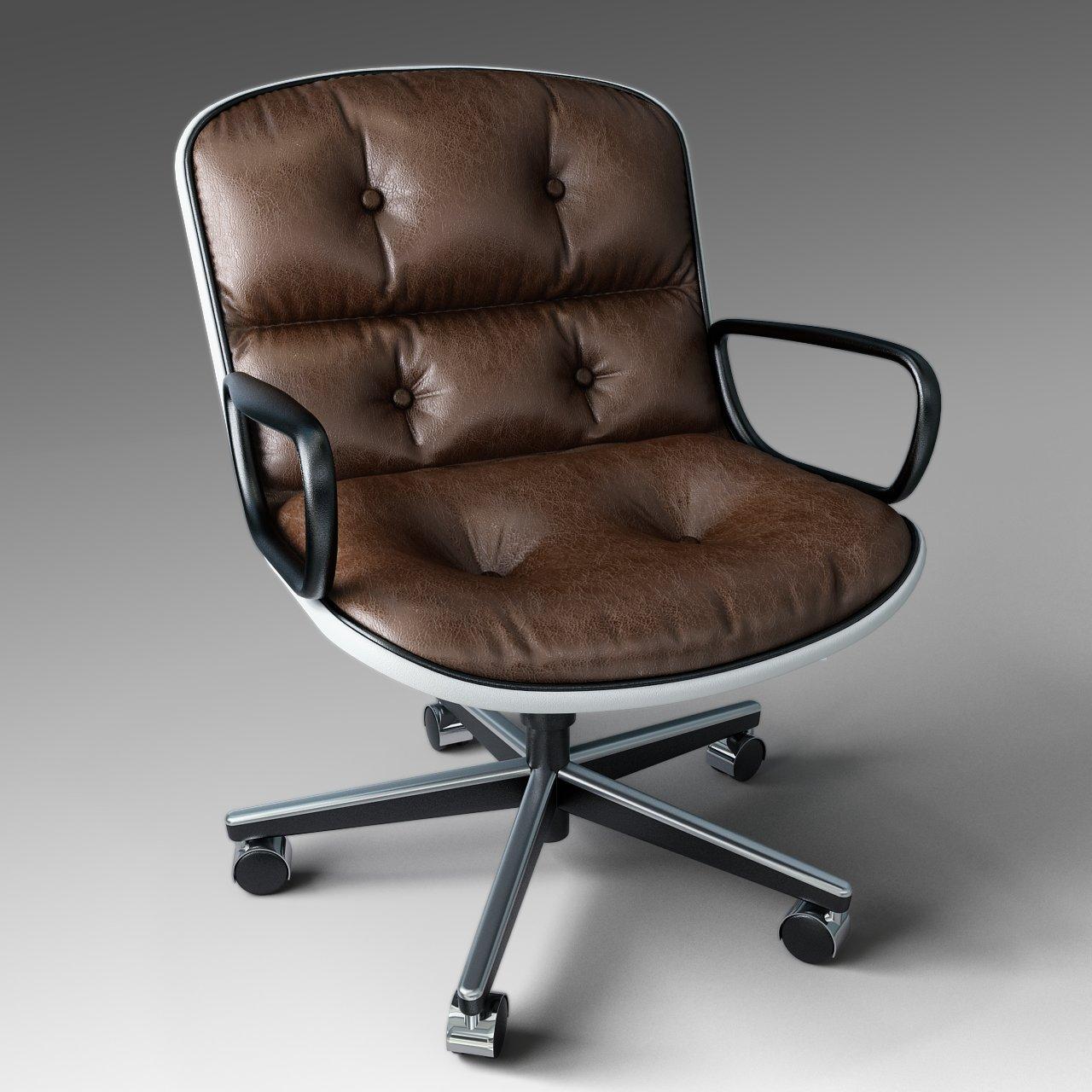 Merveilleux Pollock Executive Chair 3D Model