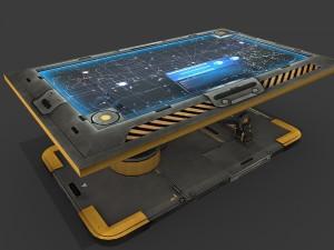 Sci Fi Hologram Table