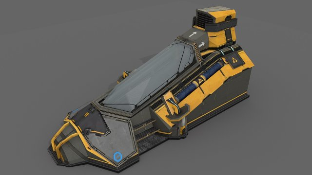 Sci Fi Cryo Pod 3D Model